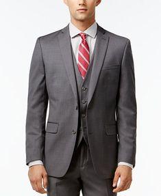 Image 4 of Bar III Mid-Grey Pindot Slim-Fit Suit Separates