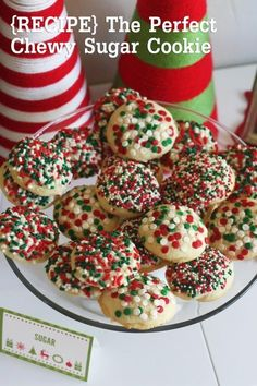Honestly, this is the perfect chewy sugar cookie recipe! #christmas #recipe #cookie