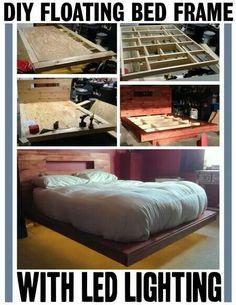 DID floating bed frame