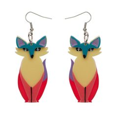 Limited edition, original Erstwilder Varuka Fox earrings. $24.95