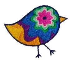 Psychelic Chick- Free Embroidery Design