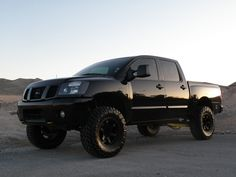 Black Nissan Titan #pickuptruck