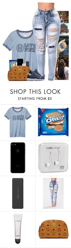 """"" by kennisha84 ❤ liked on Polyvore featuring Victoria's Secret, Happy Plugs, Tzumi, MAC Cosmetics, MCM and NIKE"