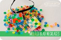 We haven't done a melted bead project in a while, then I had an idea! The projects we had done in the past were kinda big. My new idea was to make it small! So the next time we were at the craft st...