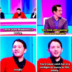 And when he was proud of his fantastic cardigan. 21 Times Jon Richardson Was The Cutest Man In Britain British Humor, British Comedy, 9gag Funny, Funny Texts, Jon Richardson, 8 Out Of 10 Cats, Funny Animal Quotes, Hilarious Animals, Comedy Show