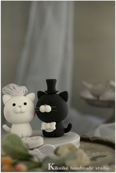 Lovely cat and kitty Wedding Cake Topper | Flickr - Photo Sharing!