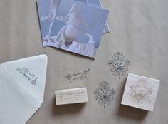 fieldguided: rose custom return address stamp by Sycamore Street Press