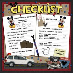 Pre Trip Preparation, Planning and/or Countdown - Page 7 - MouseScrappers.com