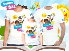 Kit Camisetas Personalizadas Mundo Bita Camiseta de ótima qualidade com  ótimo caimento. Trabalhamos com os Modelos e Tamanhos  Gola Tradicional  Adulto e ... 010c96f0d3ea4