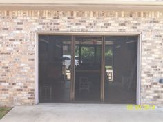 2 Lifestyle garage door screens from Cool Screens Texas. Lifestyle screens can help keep bugs and insects out of your garage.