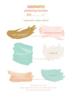Lovely watercolour photoshop brushes