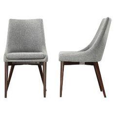 Sullivan Mid Century Dining Chair Wood/Gray (Set of 2) - Homelegance : Target