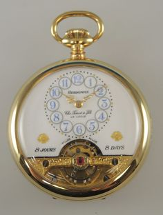 MINT condition HEBDOMAS 8 Day Pocket Watch w/ Fancy Dial Sold by Chs TISSOT | Jewellery & Watches, Watches, Parts & Accessories, Pocket Watches | eBay!