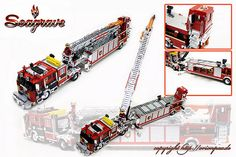 - Lego Cars and Trucks - Police Car, Ambulance, Fire Engine Sirens Of Titan, Lego Fire, Lego Truck, Fire Apparatus, Lego Projects, Lego Moc, Fire Engine, Lego Creations, Police Cars