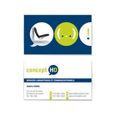 Carte professionnelle pour Concept HD Design par Cyan Concept facebook.com/cyanconcept.graphisme www.cyan-concept.com