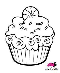 Coloring Page Cupcake Fun Cupcake Coloring Pages Digital Stamps