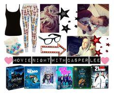 """movie night with casper lee"" by kacileim on Polyvore"