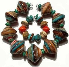 Southwest Striations - Lampwork