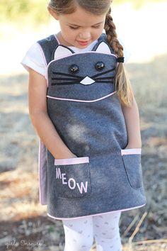 Kitty Cat Wrap Dress