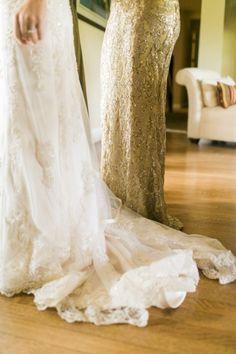 Gorgeous getting ready shot #dress | | Photography: Sara Lucero