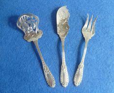 Silberbesteck 3 teilig Hors d` oeuvre Frankreich Emile Bergeron Minerva Flatware, Tableware, Silver Cutlery, Forks, Cutlery Set, Dinnerware, Tablewares, Dishes, Cutlery