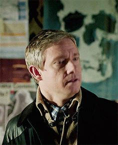 Martin Freeman facial expression .gifs are the reason I get out of bed in the morning. >>John meeting Tom.