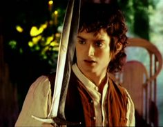 Frodo Baggins with the sword of sting