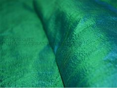 Pure Dupioni Silk raw silk fabric in Peacock color Indian dupioni silk