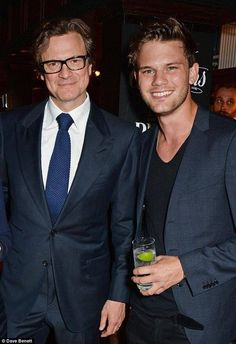 Jeremy Irvine and Colin Firth at the Stella McCartney Green Carpet Collection forLondon Fashion Week,September 2014.
