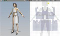 'Marvelous Designer 2' Pattern Making / Cutting / Drafting & designing software. Demo Videos here: http://www.marvelousdesigner.com/Marvelous/Demo.aspx .