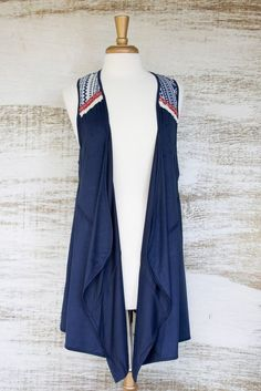 TeePee Village Aztec Suede Vest size small LOVE LOVE