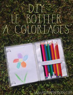 DIY: La Boite à Coloriage ! (A partir d'un boitier de DVD)
