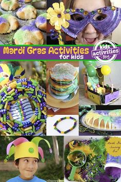 17 carnival activities for children With these 17 Mardi Gras activities for kids, you& find fun family ideas to celebrate Carniv Mardi Gras Activities, Carnival Activities, Activities For Kids, Crafts For Kids, Camping Activities, Party Activities, Kids Diy, Mardi Gras Food, Mardi Gras Beads