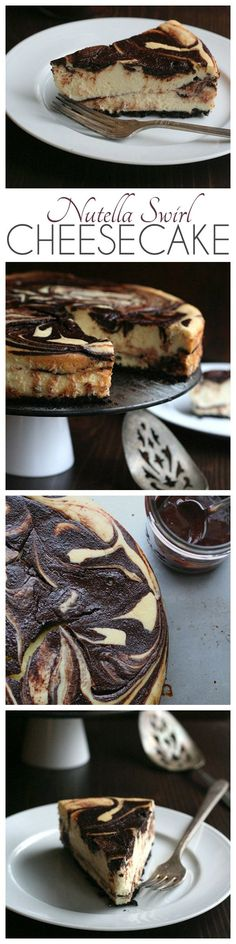 Creamy and rich, this Nutella Swirl Cheesecake might just be the best low carb dessert ever!