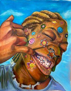 Black Art Painting, Funky Art, Afro Art, Dope Art, Psychedelic Art, Pretty Art, Aesthetic Art, Cartoon Art, Collage Art