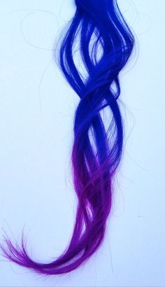 Blue and purple hair https://www.etsy.com/listing/101773906/ombre-inspired-royal-blue-to-purple-tips