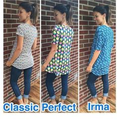 Lularoe shirts.. #irma #perfecttee #classictee #lularoe #fashion #casualclothes #butterysoft #leggings #shirts #dresses #skirts https://www.facebook.com/groups/lularoeboutiquewithKimMichels/