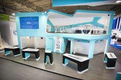 Booth design | Wikomobile | Mobile World Congress 2014 by QUAM Brand Environment Design, via Behance