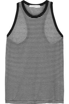 KainSammy striped cotton and modal-blend tankclose up