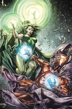 """astonishingx: """" Polaris vs Magneto by Mico Suayan """""""