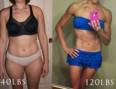 140lbs to 120lbs in 3 1/2 months. She lists her w/o routine and diet on her blog. Interesting.