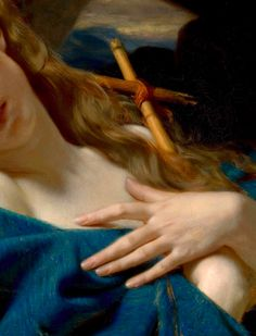 Mary Magdalene in the Cave, Hugues Merle,1868,