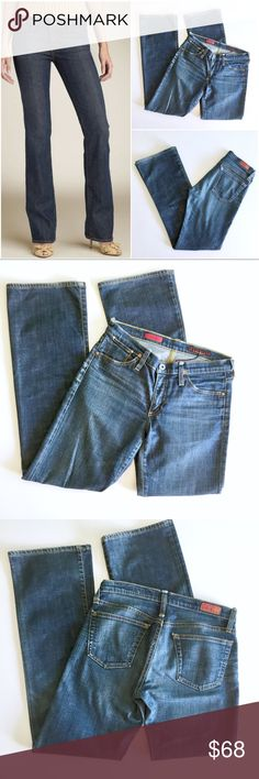 AG The Kiss Straight Leg Jeans Up for sale preowned but in great condition pair of AG straight leg jeans. Size 29 Regular. See photos for details and condition of the Jeans. Check out my closet, bundle and give me your offer! AG Adriano Goldschmied Jeans Straight Leg