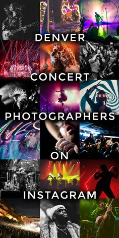 List of Denver Concert Photographers on Instagram #music #concerts #photography #denver
