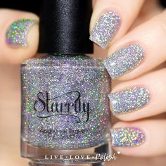 This is my most favorite nail polish ever. Starrily Menchie The Cat Nail Polish Fabulous Nails, Gorgeous Nails, Love Nails, How To Do Nails, Holographic Nail Polish, Holographic Glitter, Holo Nail Polish, Cat Nails, Manicure Y Pedicure