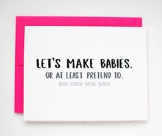 SALE Naughty Valentines Card – Funny Valentine's Day Card – I Love You Card – Let's Make Babies. – Naughty Valentines Card Funny Valentine's Day Card by