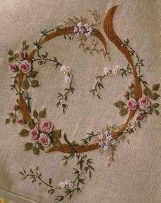 Lovely embroidered roses | Pinterest • Всемирный каталог идей