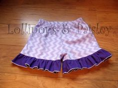 Made to Order Purple Chevron Laynes Ruffle by LollipopsPaisley, $25.00