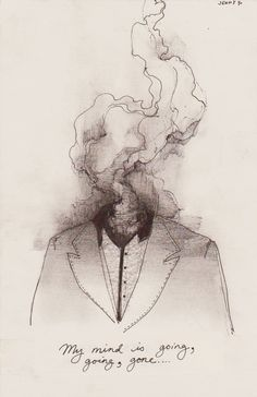 My mind is going... | Fly Drawing, Smoke Drawing, Brain Drawing, Brain Art, Smoke Art, Sketch Drawing, Sketching, Ghost Drawings, Cool Drawings Tumblr