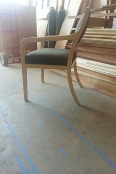 My newest contemporary chair out of maple by artisan Nate Hardenbrook.